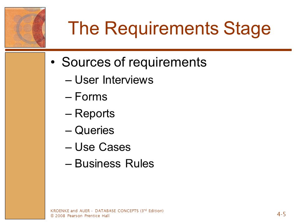 The Requirements Stage
