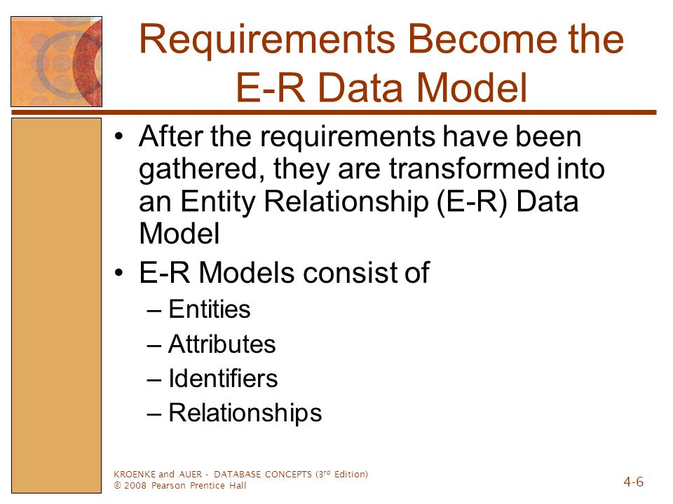 Requirements Become the E-R Data Model