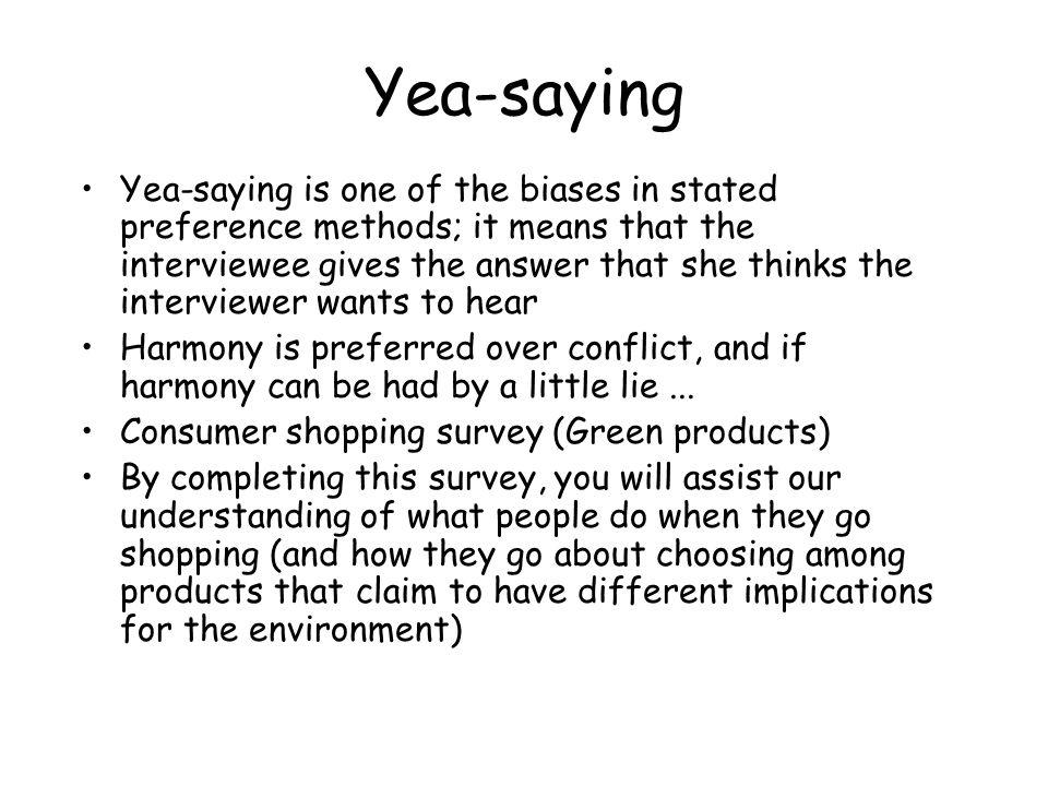 Yea-saying