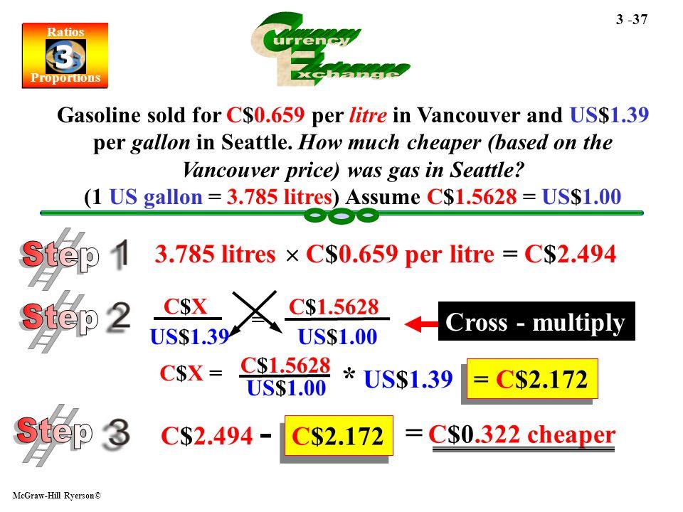 C urrency E xchange Step Step Step * US$1.39 = C$0.322 cheaper