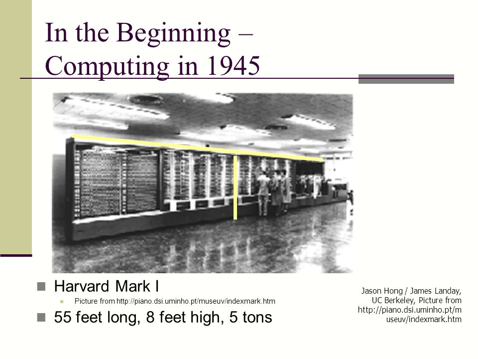 In the Beginning – Computing in 1945