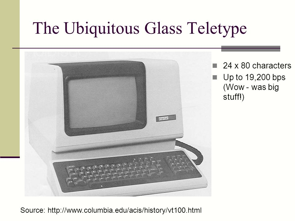 The Ubiquitous Glass Teletype