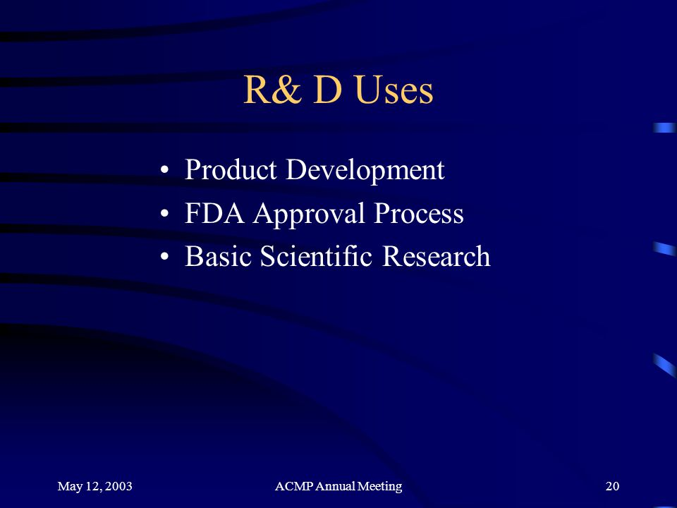 R& D Uses Product Development FDA Approval Process