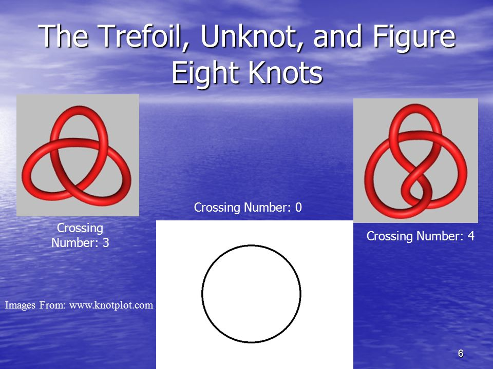 The Trefoil, Unknot, and Figure Eight Knots