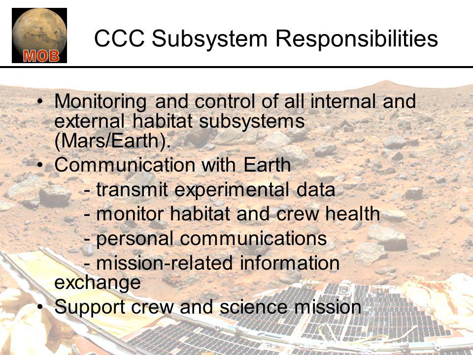 CCC Subsystem Responsibilities