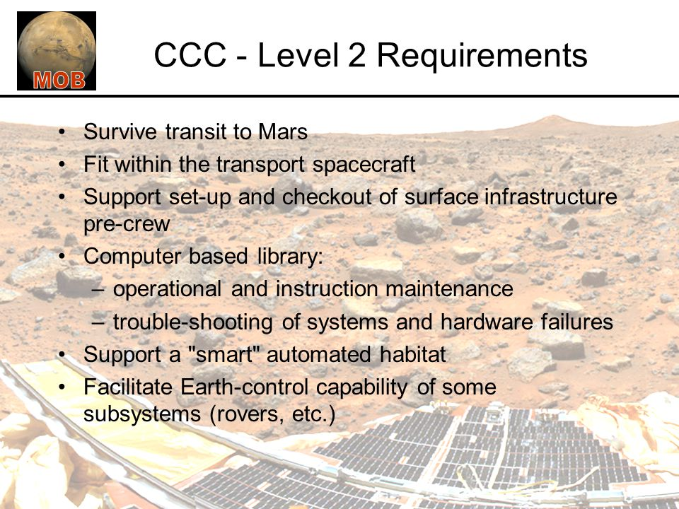 CCC - Level 2 Requirements
