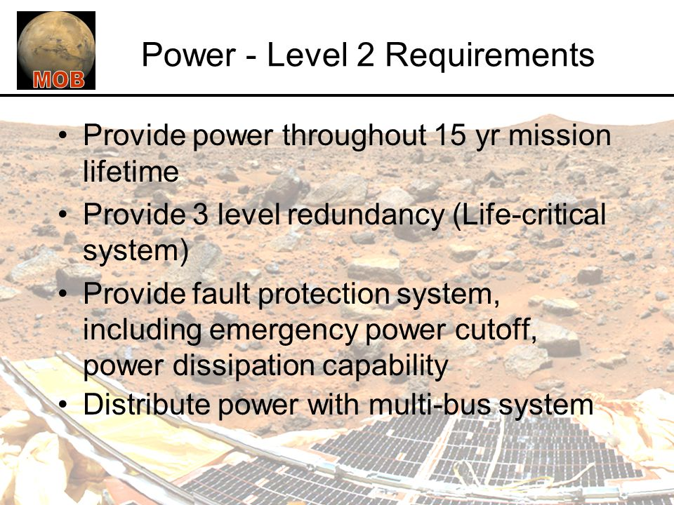 Power - Level 2 Requirements