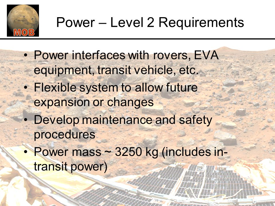 Power – Level 2 Requirements