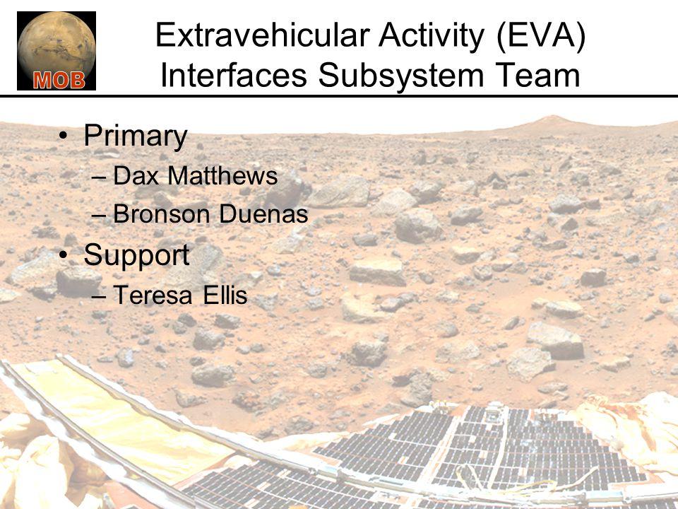 Extravehicular Activity (EVA) Interfaces Subsystem Team