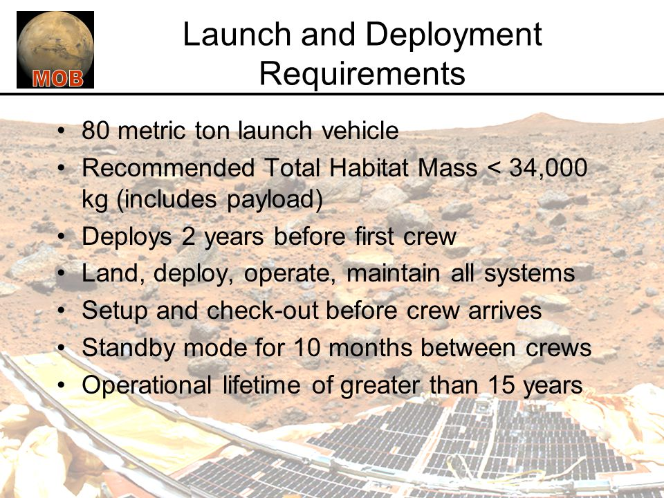 Launch and Deployment Requirements