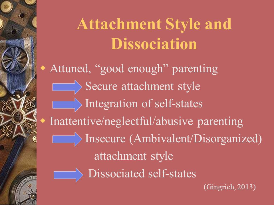 Attachment Style and Dissociation