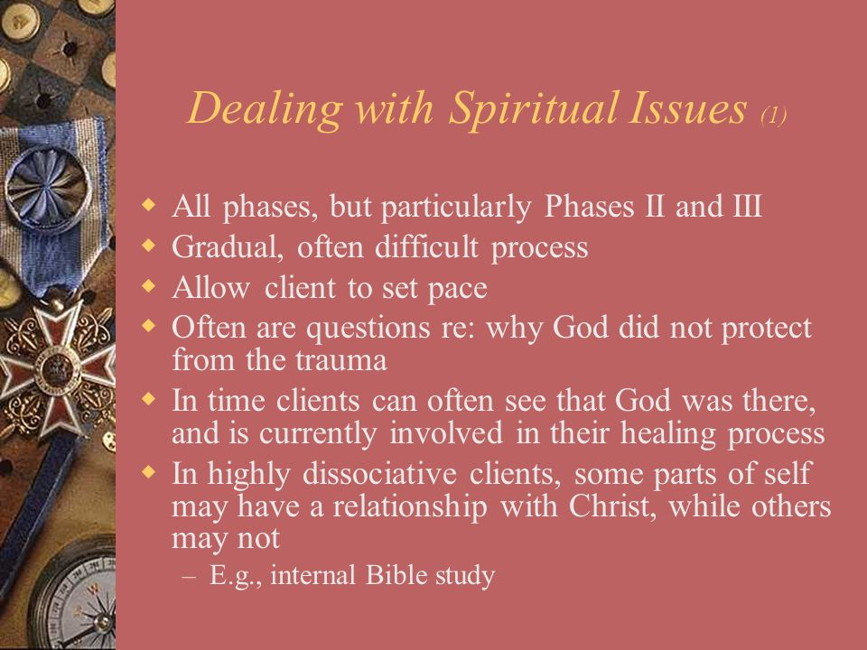 Dealing with Spiritual Issues (1)