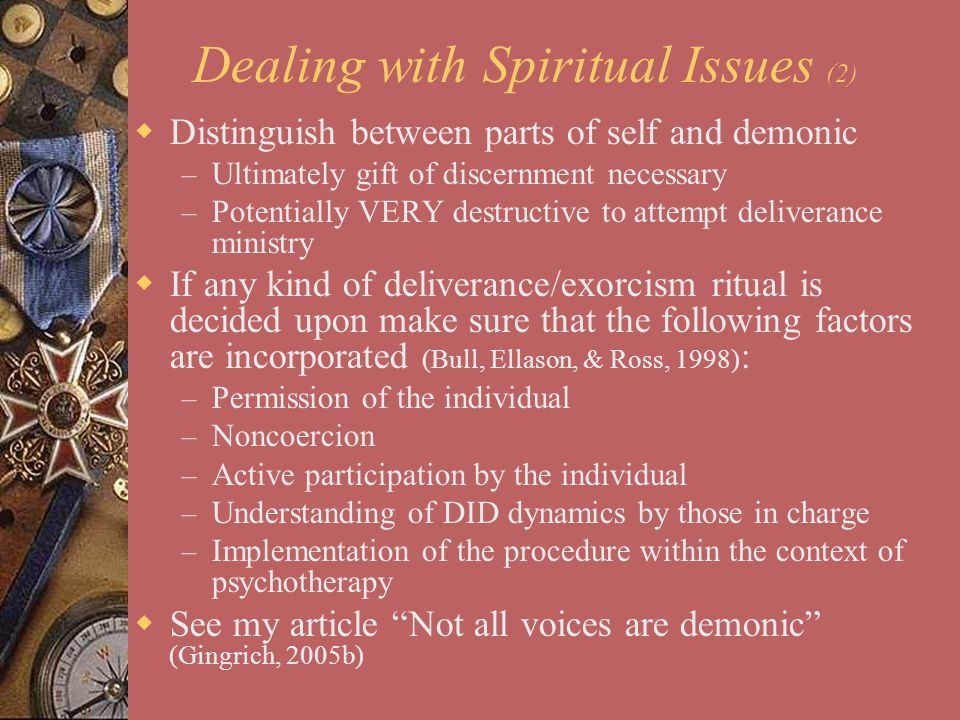 Dealing with Spiritual Issues (2)