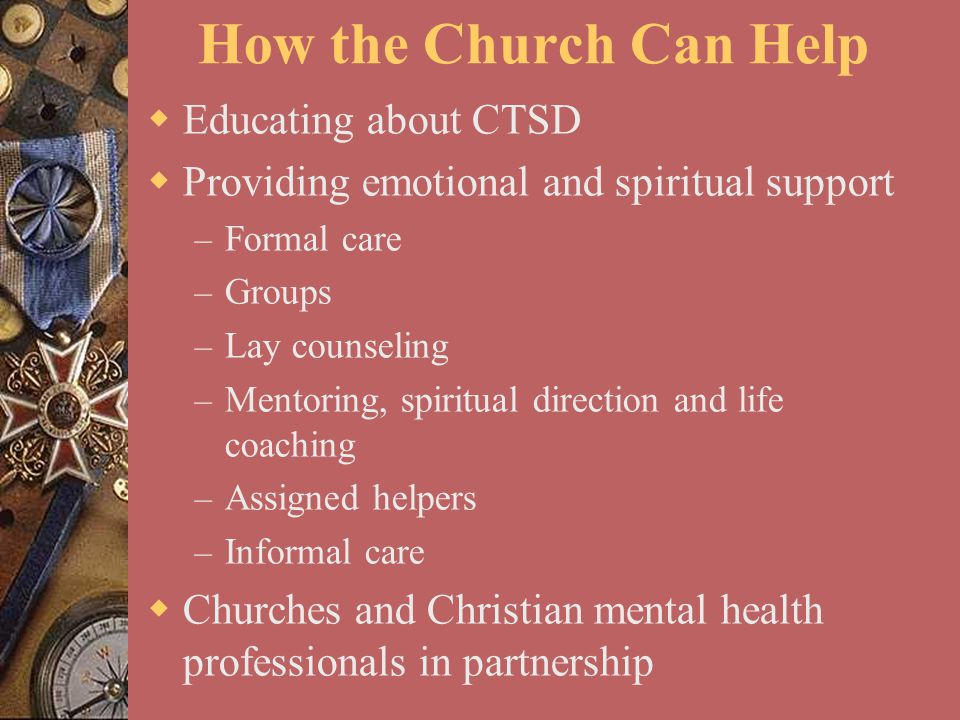 How the Church Can Help Educating about CTSD