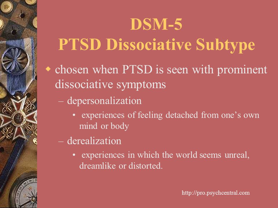 DSM-5 PTSD Dissociative Subtype