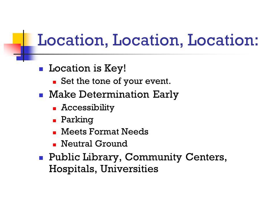 Location, Location, Location: