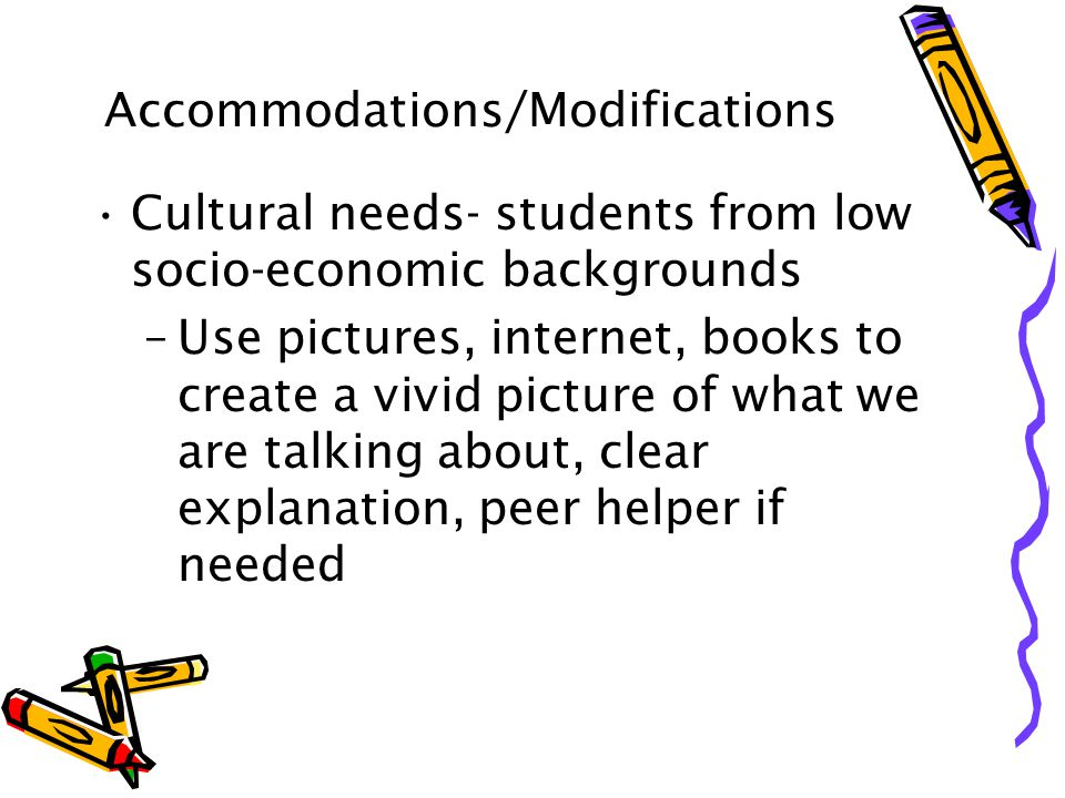 Accommodations/Modifications