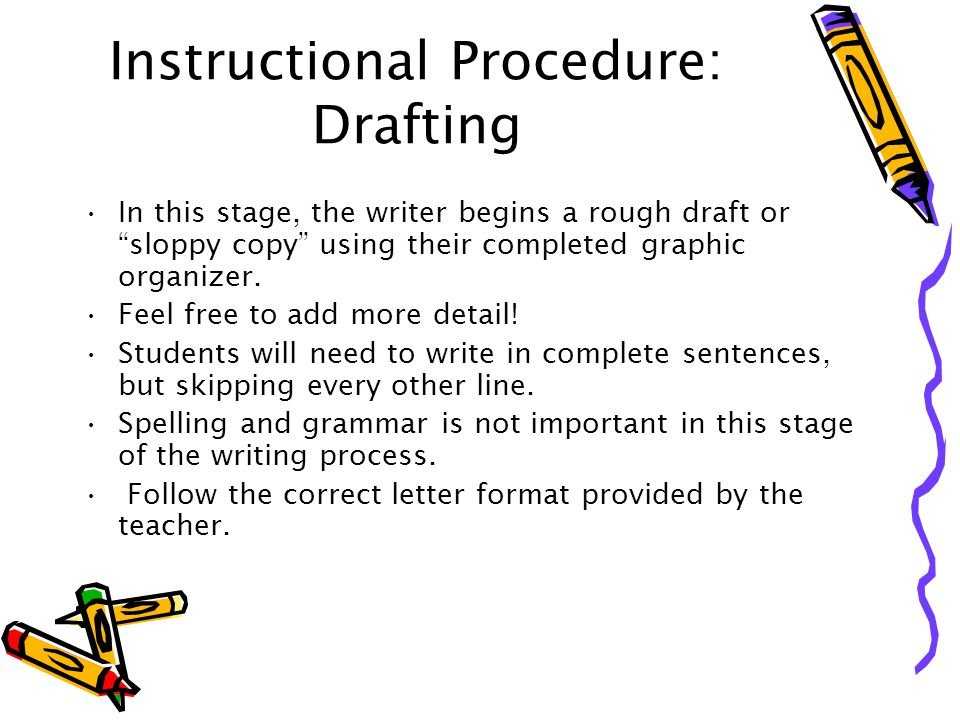 Instructional Procedure: Drafting