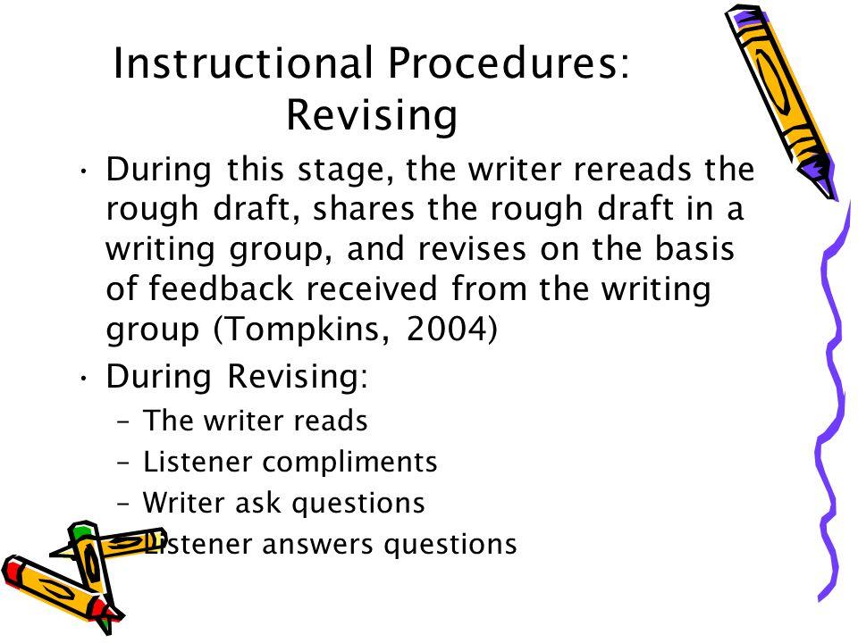 Instructional Procedures: Revising