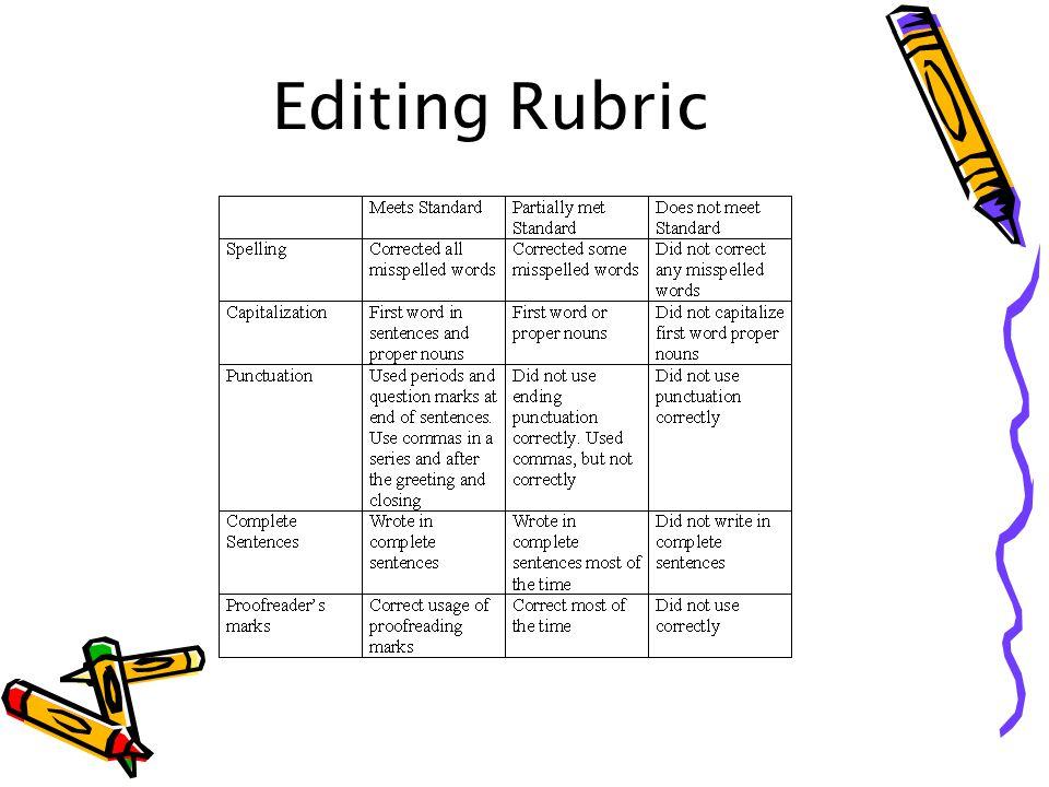 Editing Rubric