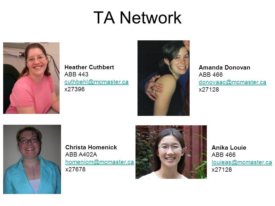 TA Network Heather Cuthbert Amanda Donovan ABB 443 ABB 466