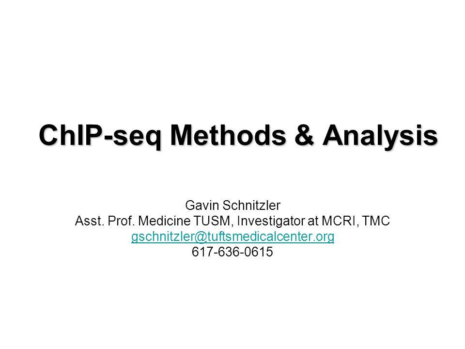 ChIP-seq Methods & Analysis