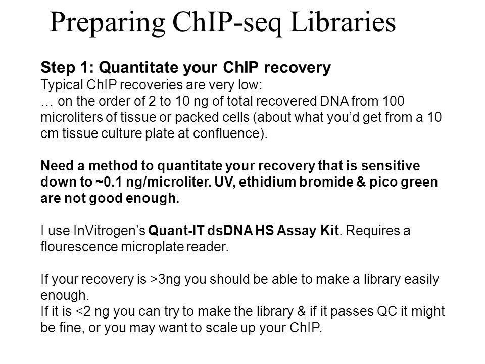 Preparing ChIP-seq Libraries