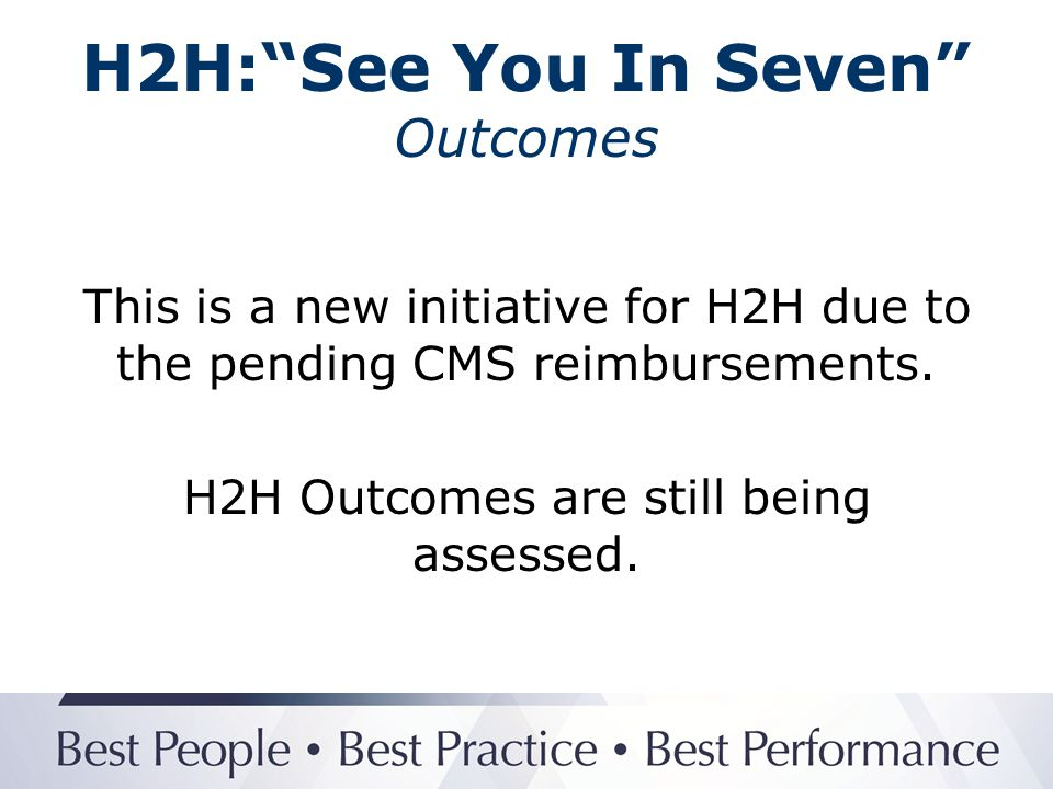 H2H: See You In Seven Outcomes