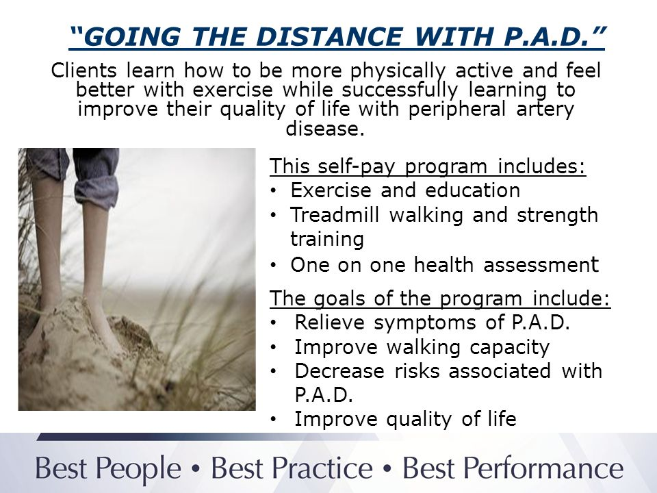 GOING THE DISTANCE WITH P.A.D.