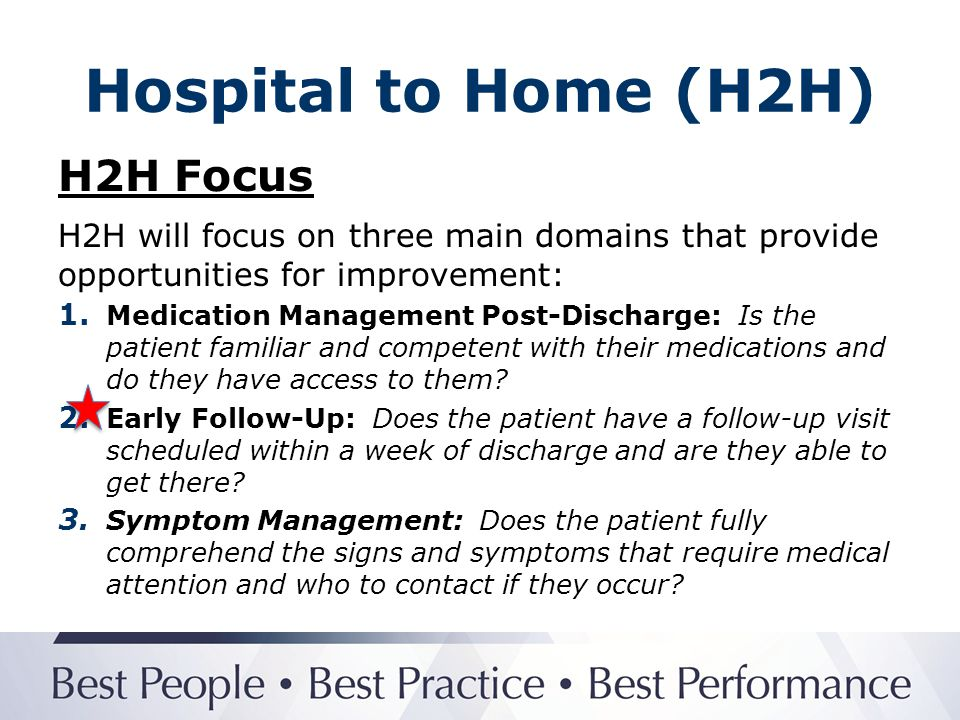 Hospital to Home (H2H) H2H Focus
