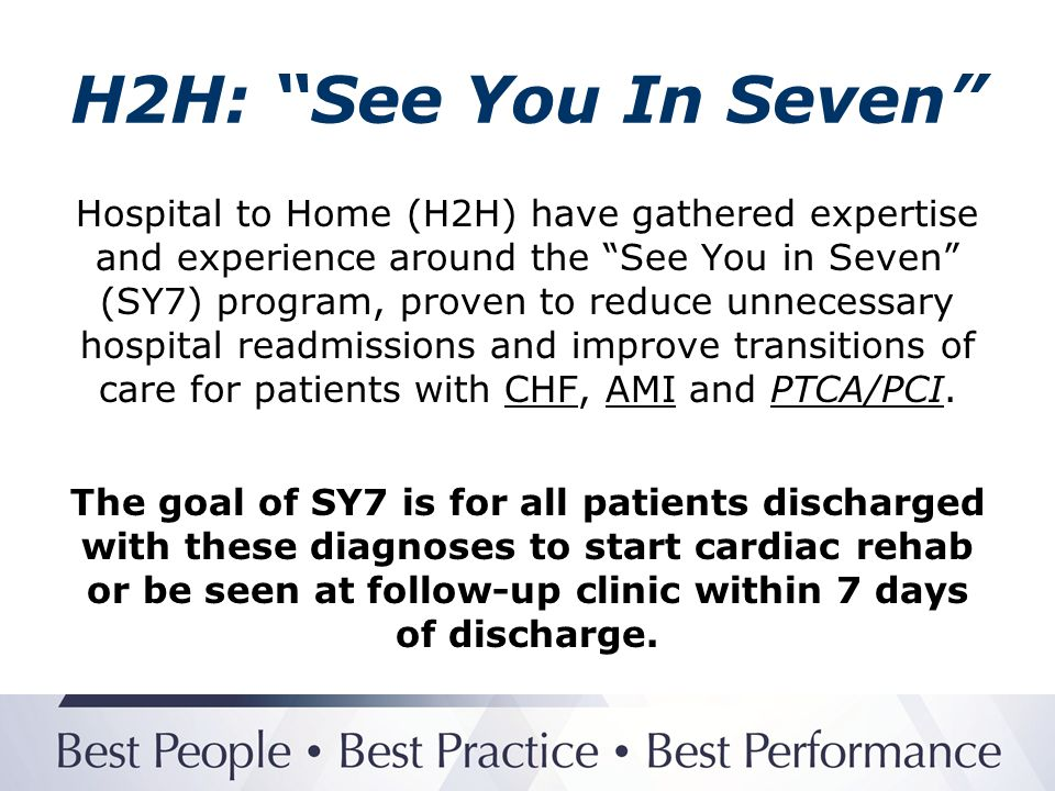 H2H: See You In Seven