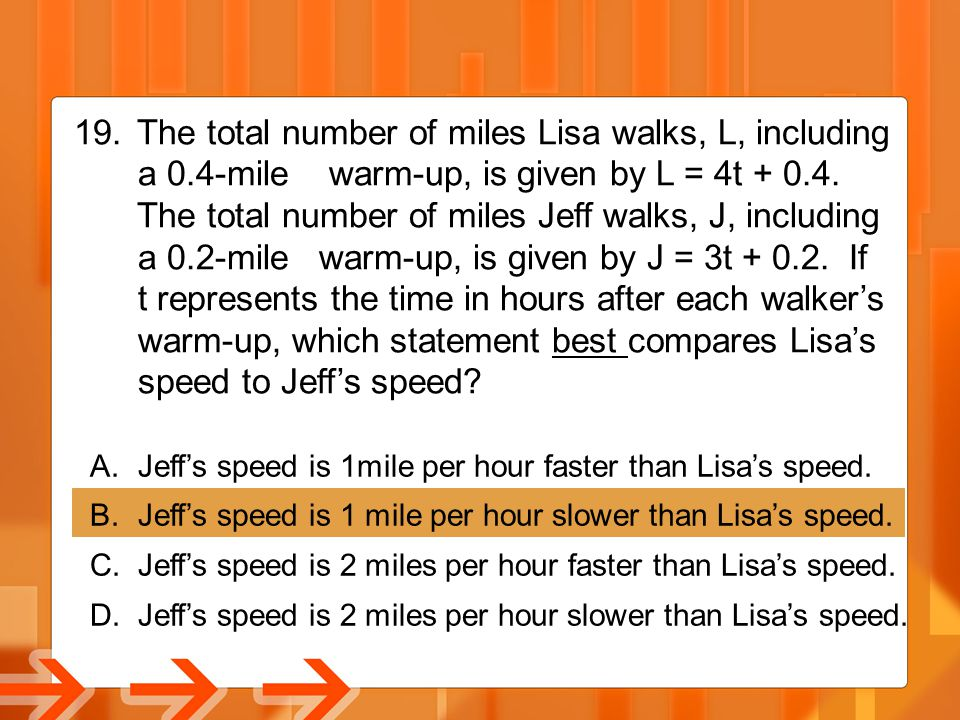 The total number of miles Lisa walks, L, including