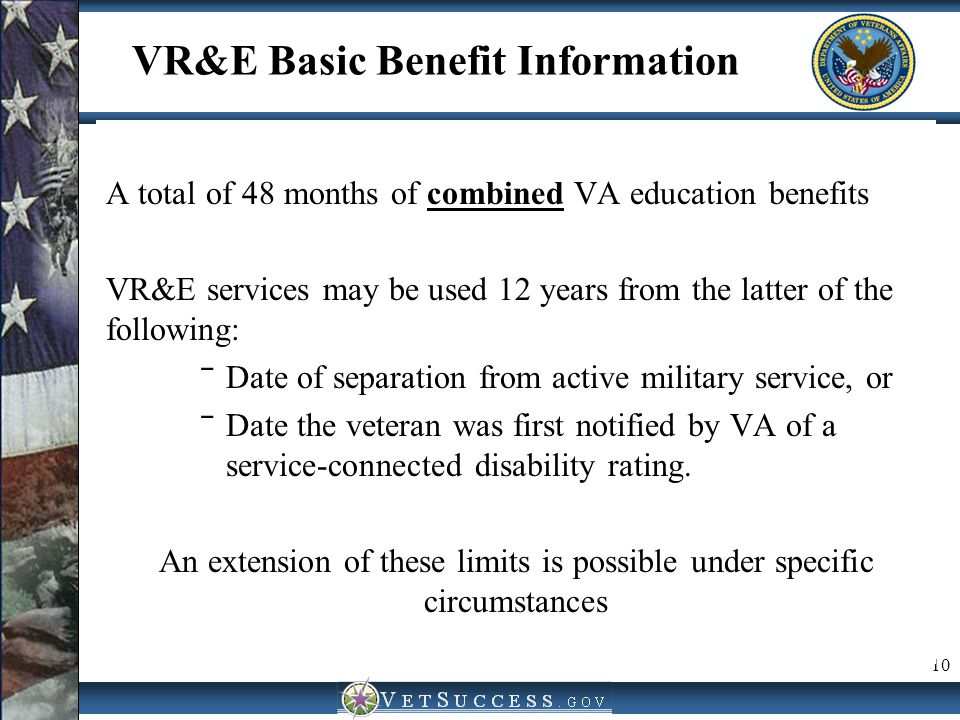 VR&E Basic Benefit Information