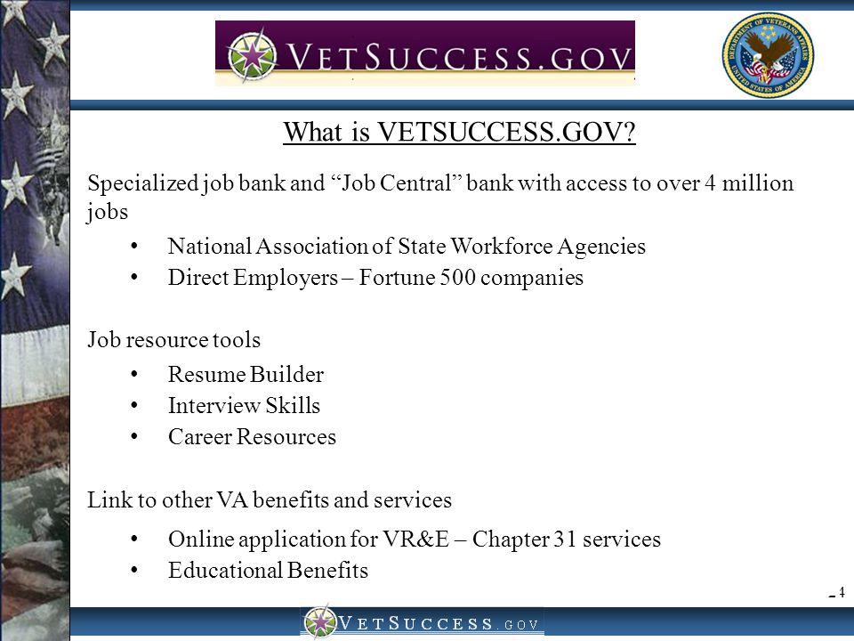 VetSuccess.gov VetSuccess.gov What is VETSUCCESS.GOV