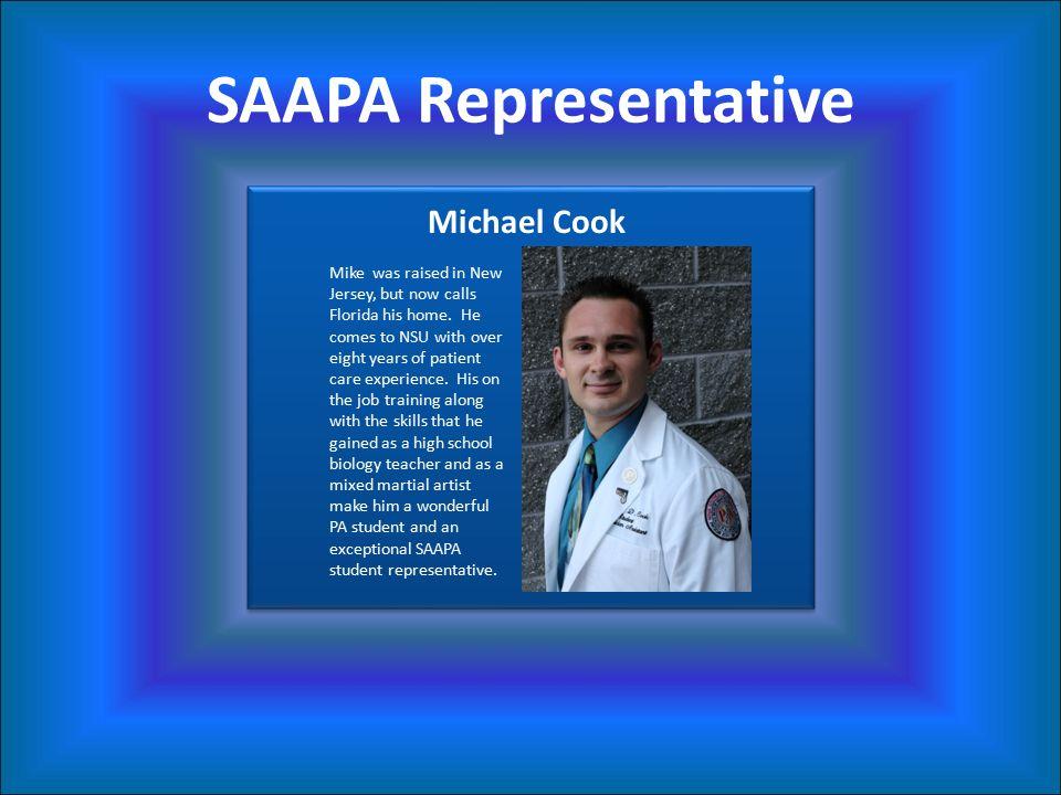 SAAPA Representative Michael Cook