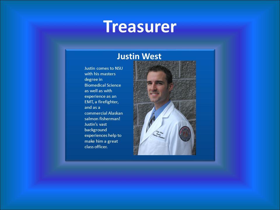 Treasurer Justin West.