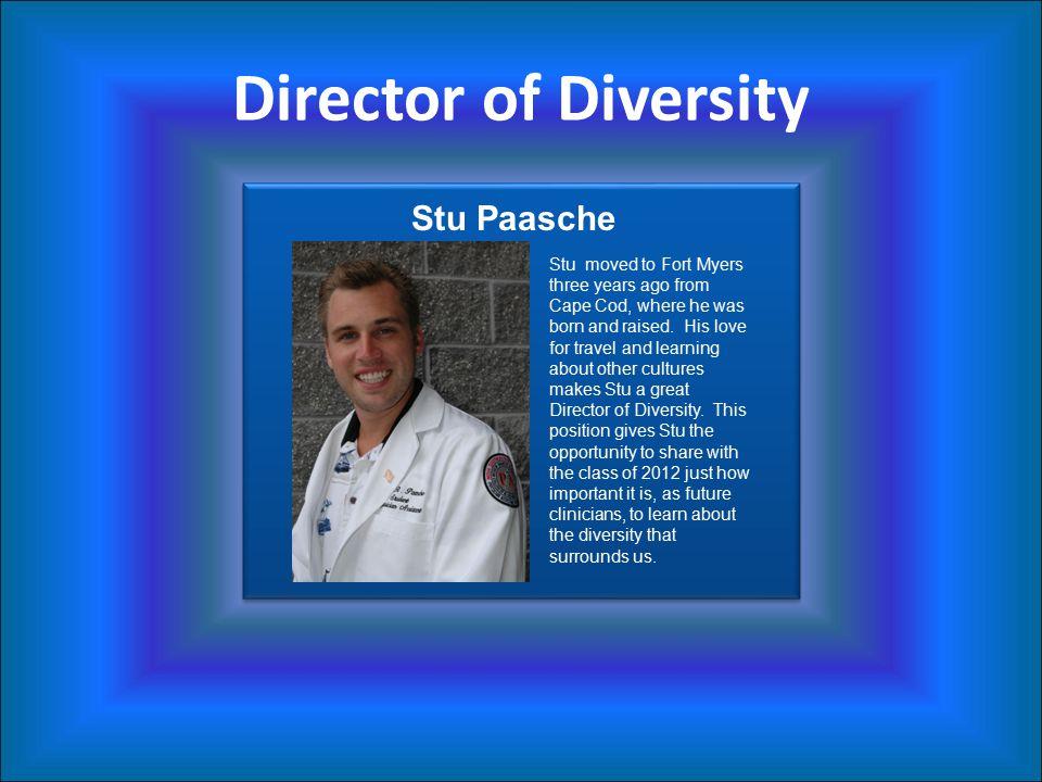 Director of Diversity Stu Paasche