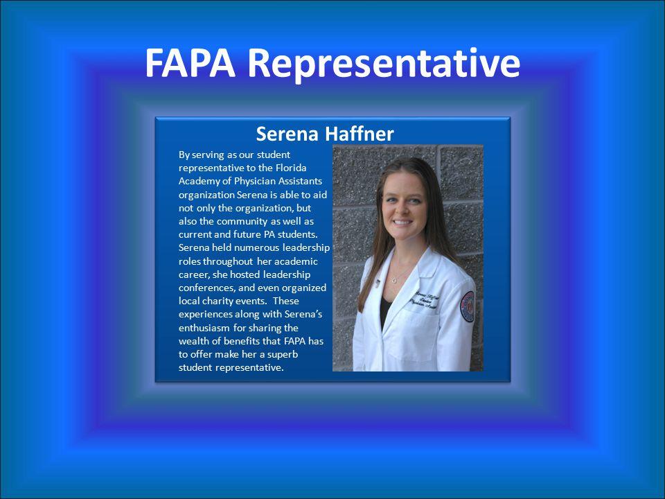 FAPA Representative Serena Haffner