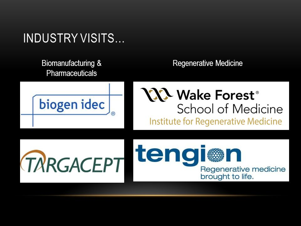Industry visits… Biomanufacturing & Pharmaceuticals