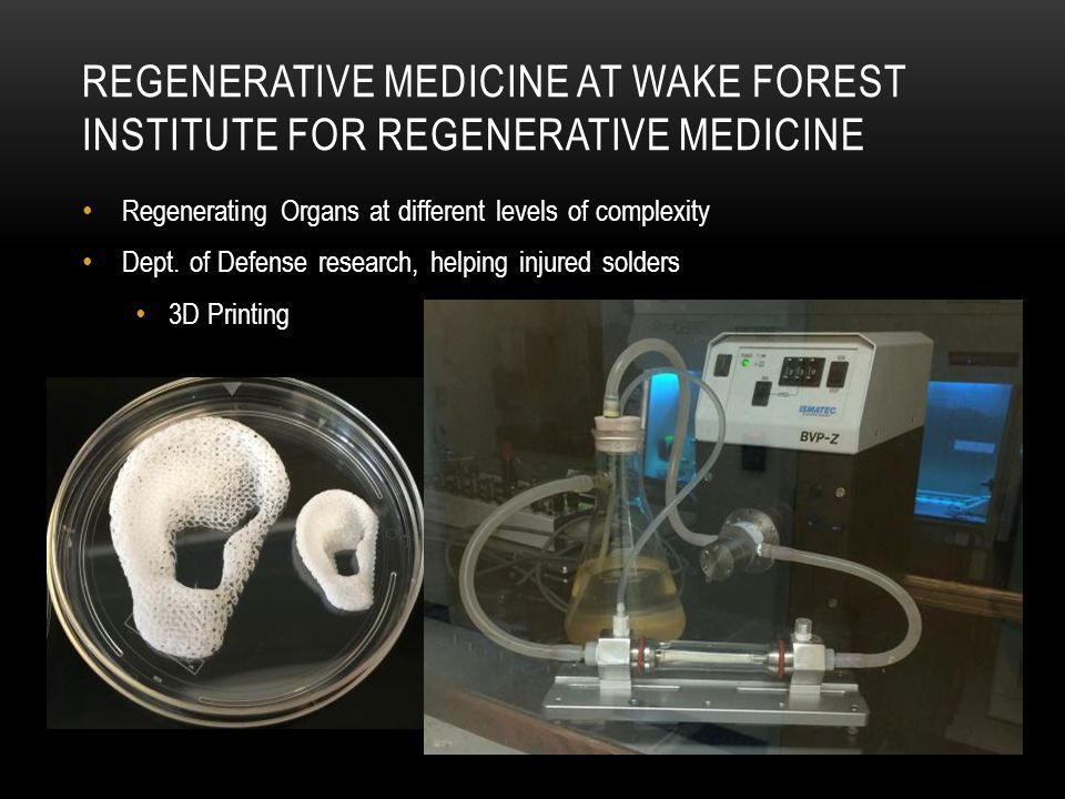 Regenerative medicine at Wake Forest Institute for Regenerative Medicine