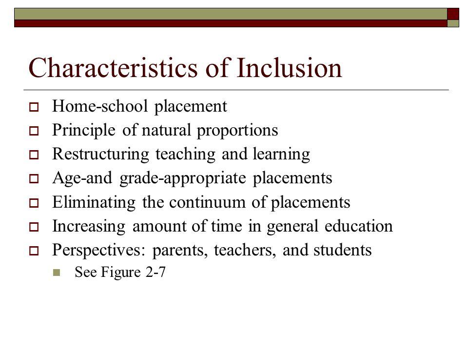 Characteristics of Inclusion