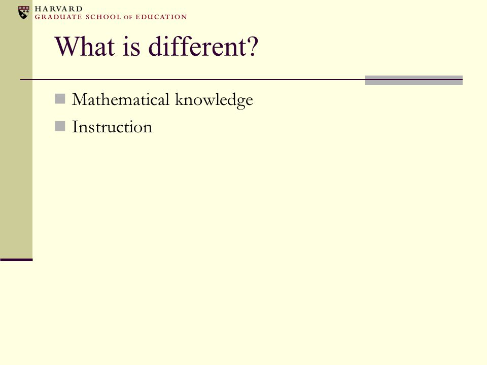 What is different Mathematical knowledge Instruction