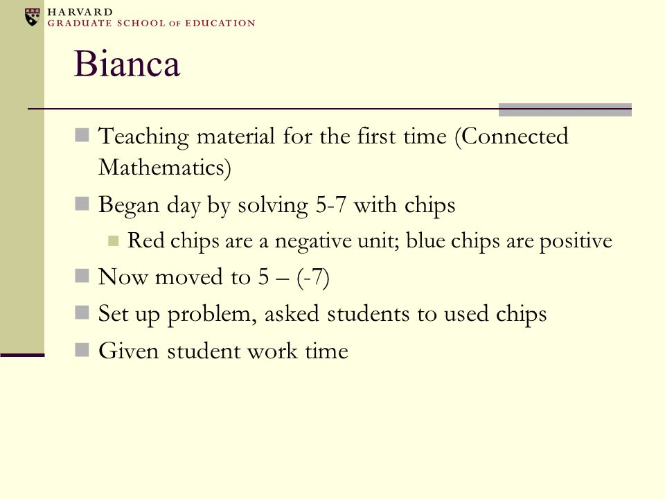 Bianca Teaching material for the first time (Connected Mathematics)