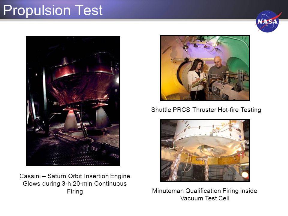 Propulsion Test Shuttle PRCS Thruster Hot-fire Testing