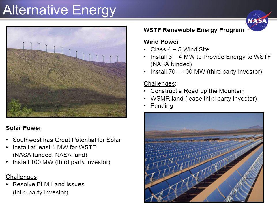 Alternative Energy WSTF Renewable Energy Program Wind Power