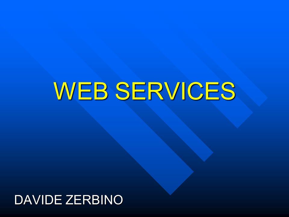 WEB SERVICES DAVIDE ZERBINO