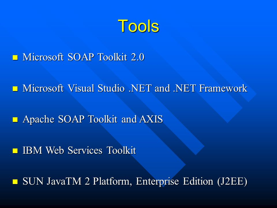 Tools Microsoft SOAP Toolkit 2.0