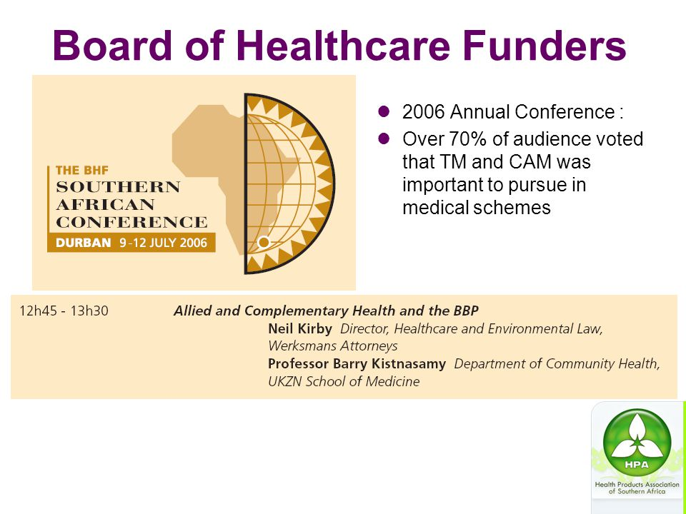 Board of Healthcare Funders