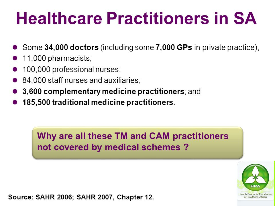 Healthcare Practitioners in SA