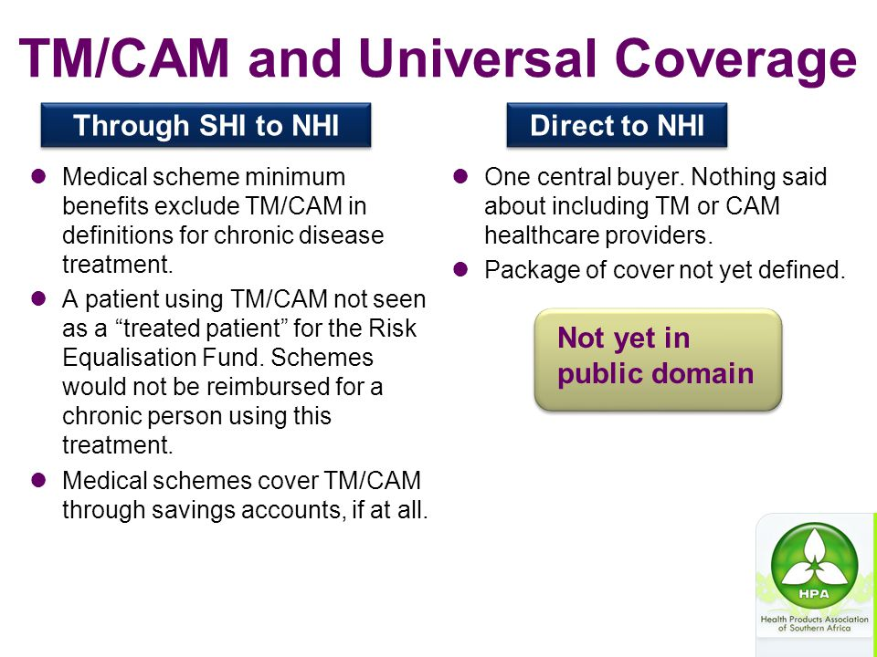 TM/CAM and Universal Coverage